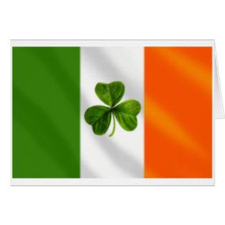 Tarjeta Engranaje irlandés de la bandera de Eire del