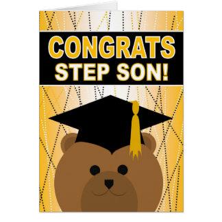 Tarjeta Enhorabuena de la graduación para el hijo del paso