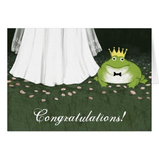 Tarjeta Enhorabuena del boda del príncipe cuento de hadas