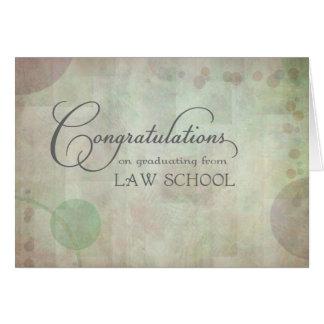 Tarjeta Enhorabuena del colegio de abogados