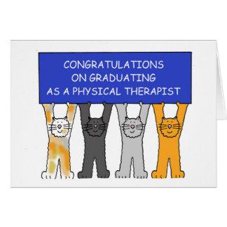 Tarjeta Enhorabuena del graduado del terapeuta físico