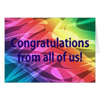 Tarjeta ¡Enhorabuena elegante todos nosotros!
