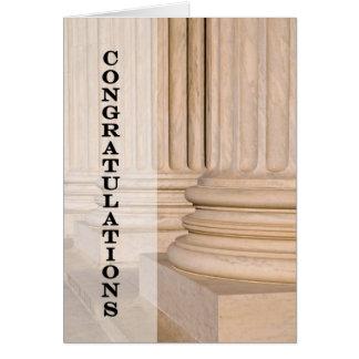 Tarjeta Enhorabuena en aprobar el examen de la prueba de