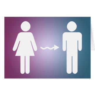 Tarjeta enhorabuena en el cambio del género