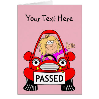 Tarjeta Enhorabuena en el paso de su prueba de conducción