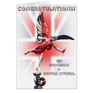 Tarjeta ¡Enhorabuena en hacer un ciudadano británico!