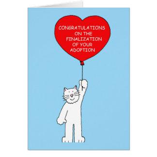 Tarjeta Enhorabuena en la finalización de su adopción