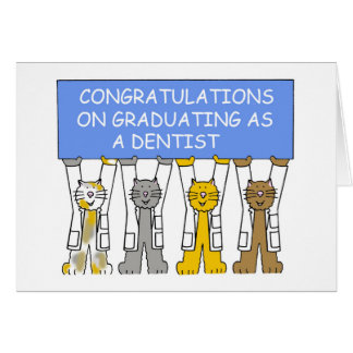 Tarjeta Enhorabuena en la graduación como dentista