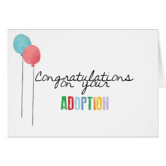 Tarjeta Enhorabuena en su adopción