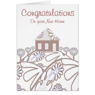 Tarjeta Enhorabuena en su nuevo hogar