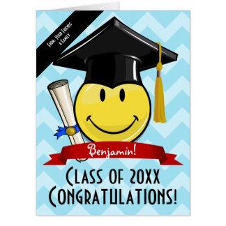 Tarjeta Enhorabuena gigante de la graduación de la sonrisa