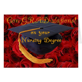 Tarjeta Enhorabuena/grado de oficio de enfermera de BScN-