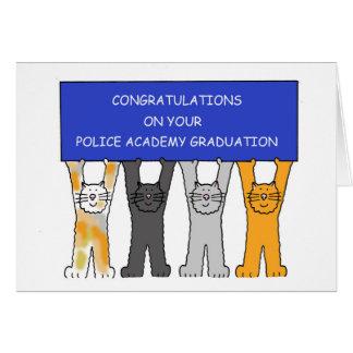 Tarjeta Enhorabuena graduada de la academia de policía