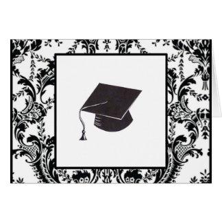 Tarjeta Enhorabuena graduada del damasco