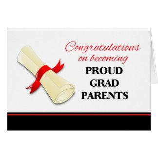 Tarjeta Enhorabuena para los padres del graduado