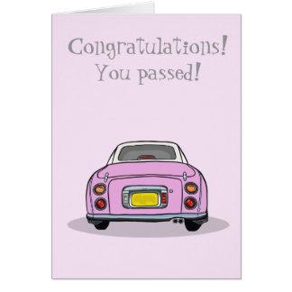 Tarjeta Enhorabuena pasajera prueba de conducción Figaro