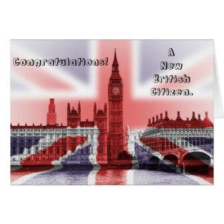Tarjeta ¡Enhorabuena! Un nuevo ciudadano británico