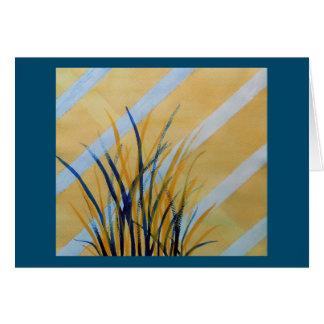 Tarjeta Enrejado abstracto de la acuarela con las hierbas
