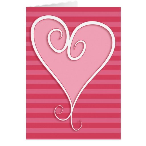 Tarjeta enrrollada del el día de San Valentín del