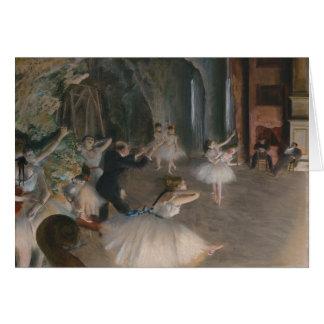 Tarjeta Ensayo de la etapa de Edgar Degas el  