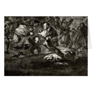Tarjeta Entierro de la absurdidad de Francisco Goya-