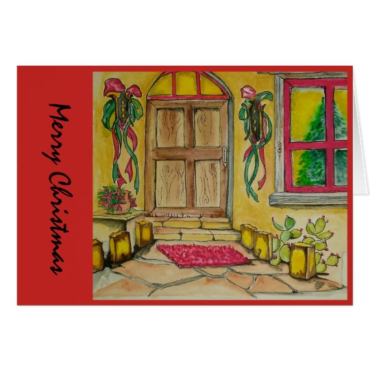 Tarjeta Entrada de puerta al sudoeste del navidad i