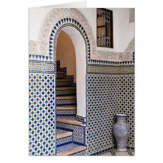 Tarjeta Entrada tejada marroquí