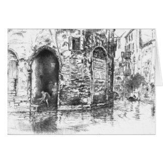 Tarjeta Entradas 1880 de Venecia