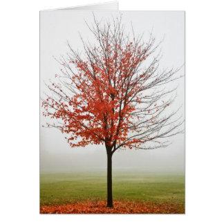 Tarjeta Entrega del otoño