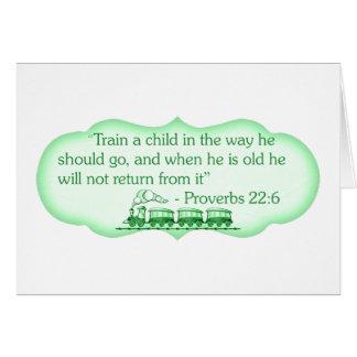 Tarjeta Entrene a un niño