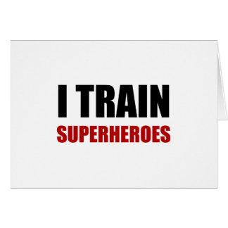 Tarjeta Entreno a super héroes