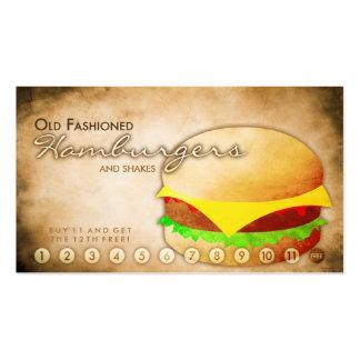 tarjeta envejecida de la lealtad de la tienda de l plantillas de tarjeta de negocio