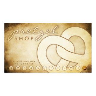 tarjeta envejecida de la lealtad de la tienda del  tarjetas de visita
