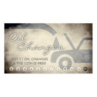 tarjeta envejecida de la lealtad de los cambios de tarjetas de visita