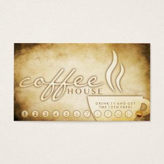 tarjeta envejecida de la lealtad del café