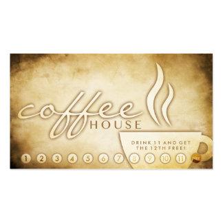 tarjeta envejecida de la lealtad del café tarjeta de visita
