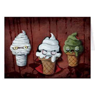 Tarjeta ¡Equipo de Halloween de los monstruos!
