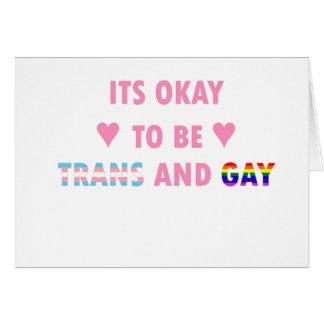 Tarjeta Es aceptable ser el transporte y el gay (v1)