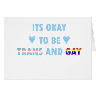 Tarjeta Es aceptable ser el transporte y el gay (v2)