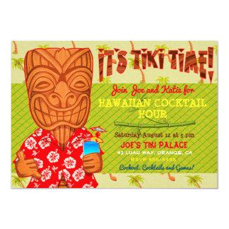 Tarjeta Es fiesta del Cookout de Luau del tiempo de Tiki