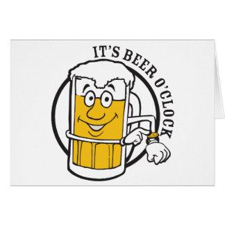 Tarjeta Es siempre hora para el en punto de la cerveza de