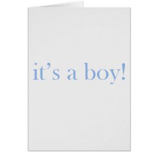 Tarjeta ¡Es un muchacho!