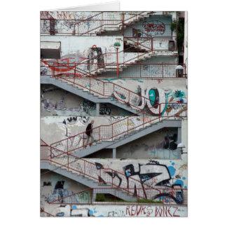 Tarjeta Escaleras de la pintada, Sarajevo