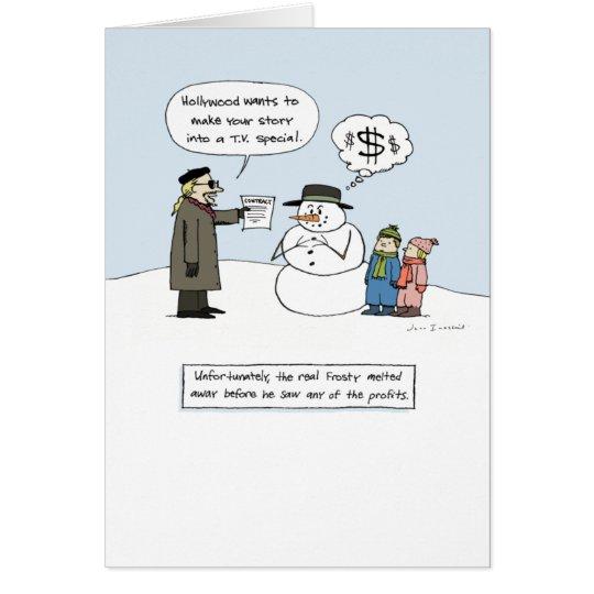 Tarjeta Escarchado codicioso - navidad chistoso