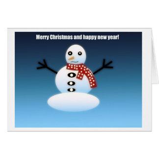 Tarjeta Escarchado el snowman.