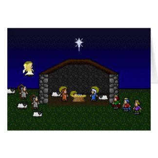 Tarjeta escena de 16 bits de la natividad del RPG