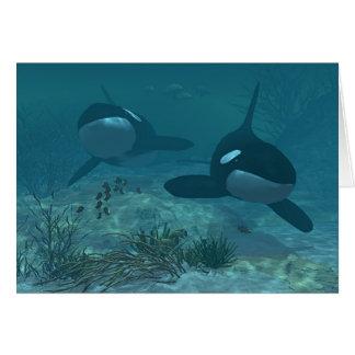 Tarjeta Escena de la ballena
