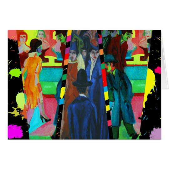 Tarjeta Escena de la calle de Ernst Ludwig Kirchner