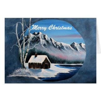 Tarjeta Escena de la montaña del invierno,