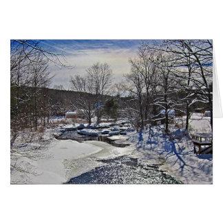 Tarjeta Escena del invierno del arroyo de la nutria